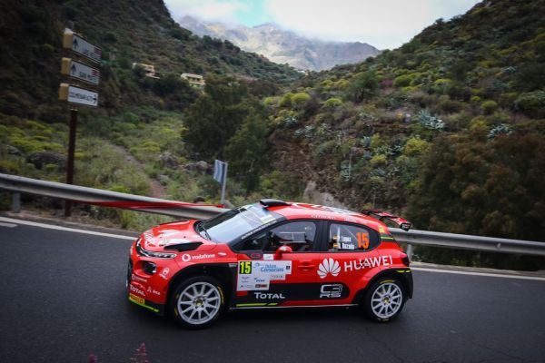 Rally Islas Canarias stage 14 overall classification