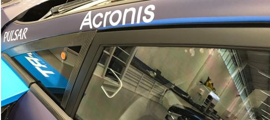 M-Sport Ford World Rally Team welcoming Acronis