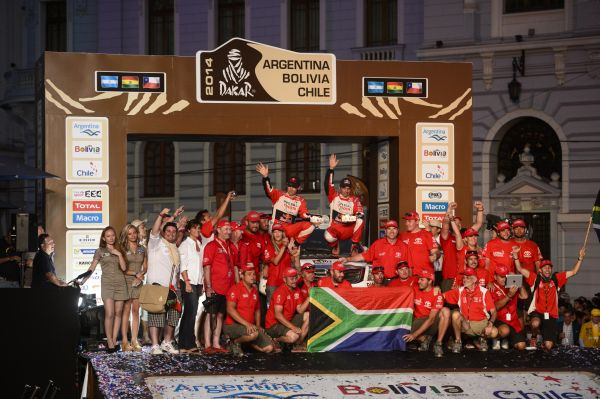 Toyota Imperial's De Villiers and Overdrive's Dabrowski with great results in Dakar Rally