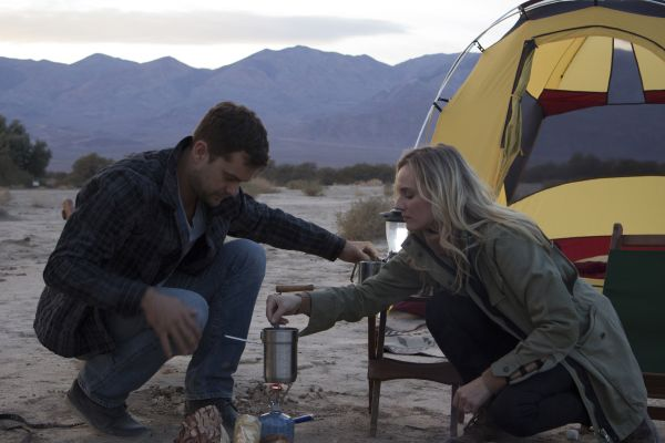 Diane Kruger and Joshua Jackson test the Mercedes fuel cell technology