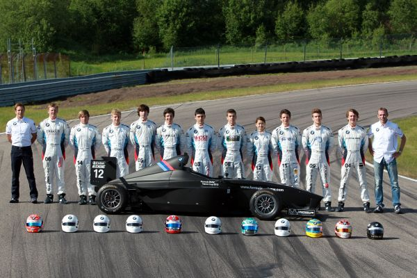 Formula BMW Talent Cup Class of 2013 ready for first race simulations.