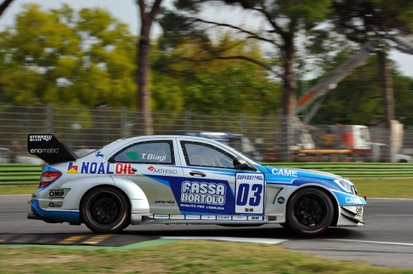 Thomas Biagi with third time in Mercedes AMG qualifying in Imola