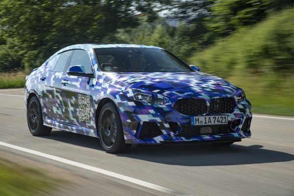 The first ever BMW 2 Series Gran Coupe dons an unusual outfit for its final testing phase.