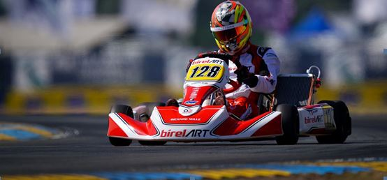 Alex Irlando concludes 16th the FIA Karting Euro Championship