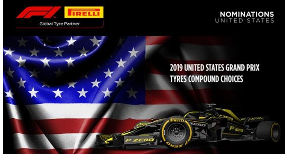 2019 United States Grand Prix  Pirelli Tyre compound choices