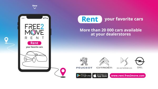 Free2Move launches its Rent car hire service