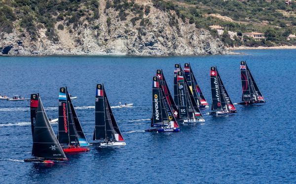 Red Bull Sailing fifth after wild GC32 Racing Tour debut