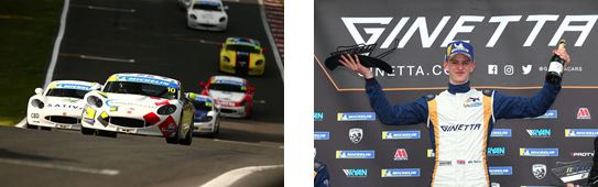 Double Ginetta Junior success for Richardson Racing at Oulton Park