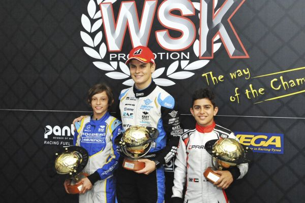 The chequered flag waved on the WSK Euro Series.