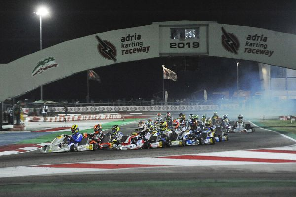 WSK Euro Series in Adria night qualifying - also videos