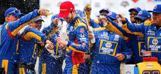 Redemption came in many forms for Alexander Rossi this weekend