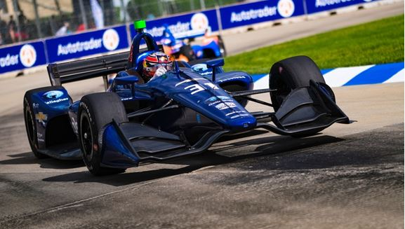 Patricio O'Ward Finishes 11th After Another Dramatic Day in Detroit