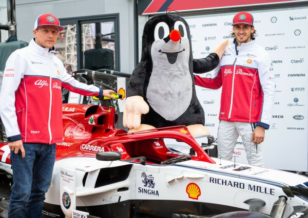 Little Mole goes from stars to cars with Alfa Romeo Racing