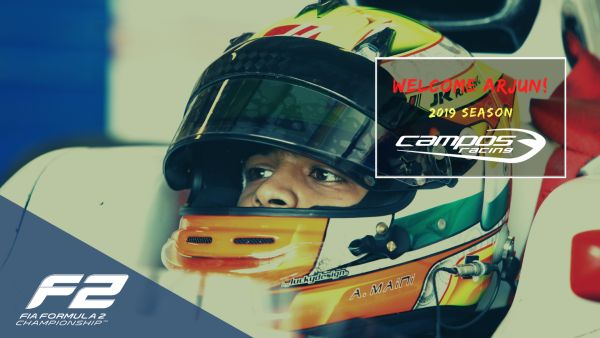 Arjun Maini joins Campos Racing as new FIA Formula 2 driver