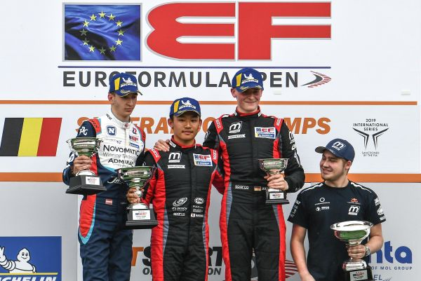 Fourth win for Marino Sato (Motopark), who rounds Spa weekend and extends Euroformula lead