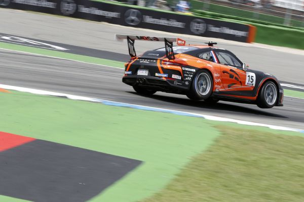 Great success: Larry ten Voorde celebrates first Supercup pole