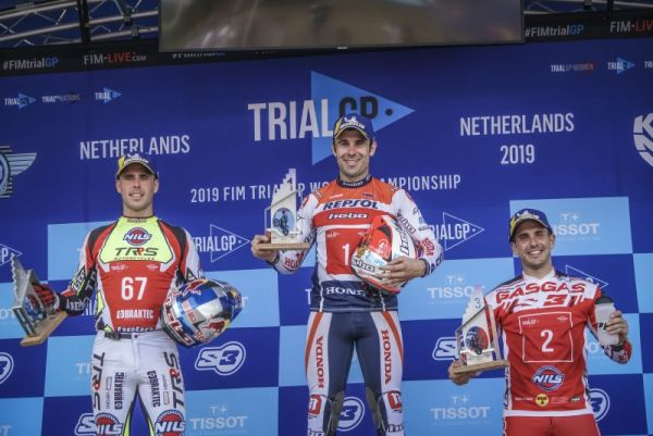 Repsol Honda's Toni Bou achieves a fourth consecutive season win in the Netherlands