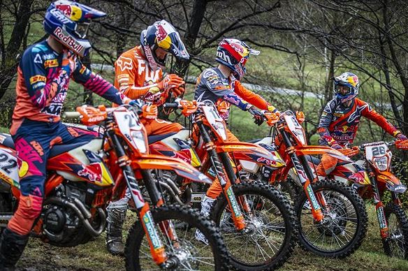 Red Bull KTM Factory Racing ready to race Hixpania Hard Enduro