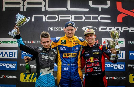 Larsson in the RallyX Nordic championship hunt after 'perfect' Latvia round