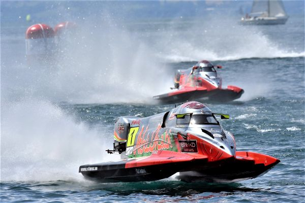 Team Abu Dhabi's Shaun Torrente sets early pace in F1H2O China practice