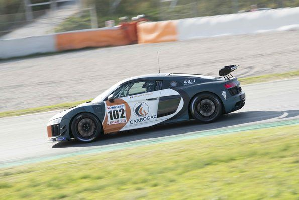 David Serban is class winner in an Audi R8 LMS GT4 in Spain
