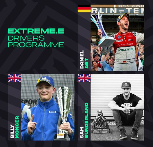 Extreme E adds Drivers' Programme inductees