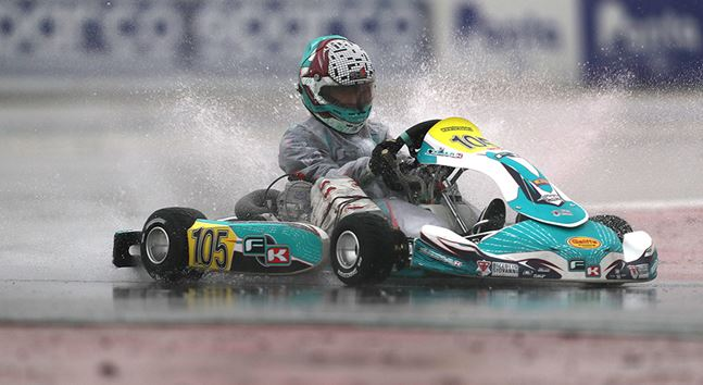 Timing practice and qualifying heats at the WSK Final Cup in Adria