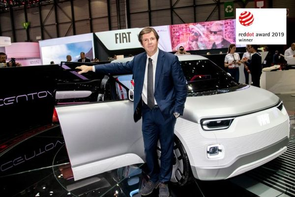 "Fiat Concept Centoventi wins the ""Red Dot Award 2019"""