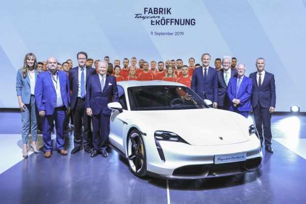 Porsche opens factory for the all-electric Taycan