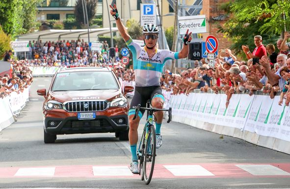 Alexey Lutsenko wins Coppa Sabatini after impressive solo breakaway