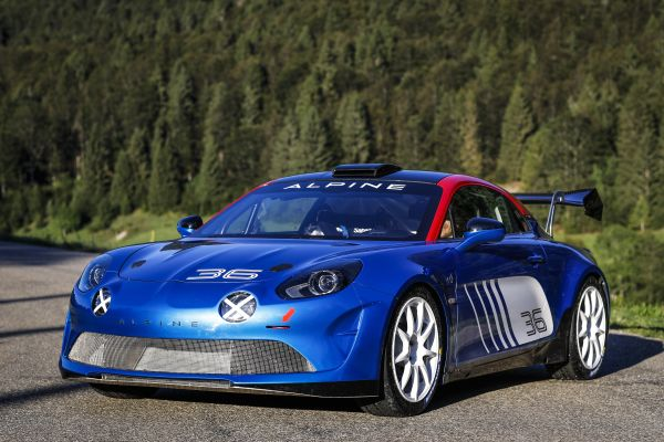 The Alpine A110 Rally ready to enter the scene