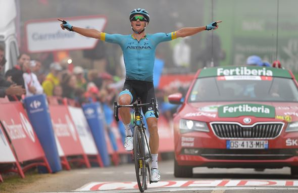 Vuelta a España, Stage 16- Jakob Fuglsang wins atop Alto de la Cubilla, Miguel Angel Lopez keeps on attacking