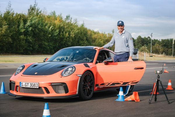 US star Matt Kuchar at the Porsche Driving Instruction Session
