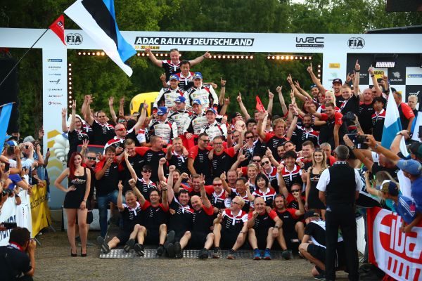 Hat-trick of wins for Ott Tänak and Toyota at the ADAC Rallye Deutschland