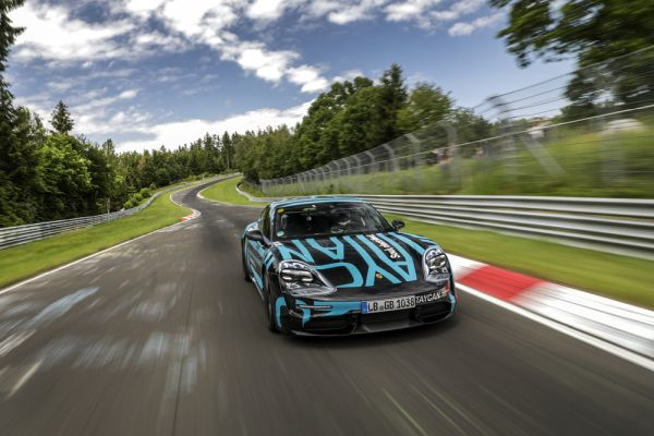 New Porsche Taycan sets a record at the Nürburgring Nordschleife