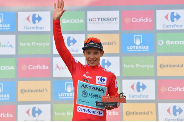 Vuelta a España,Stage 7-  Miguel Angel Lopez is 3rd atop Mas de la Costa, retakes back red jersey