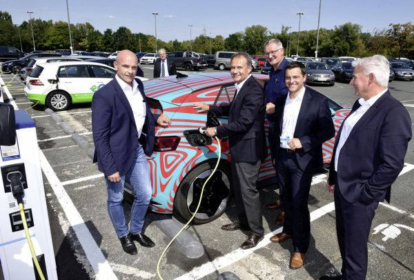 Expansion of electric charging stations at Volkswagen's German sites begins