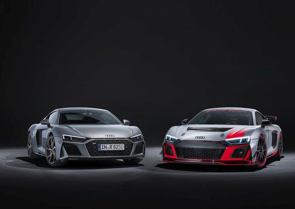 The Audi R8 V10 RWD and the Audi R8 LMS GT4