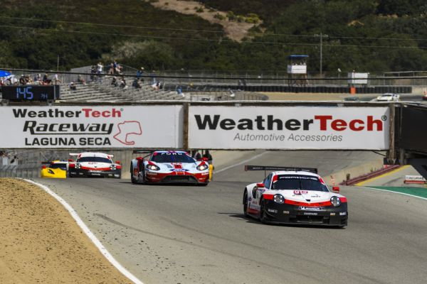 Porsche scores vital points in Laguna Seca on the way to a possible title win