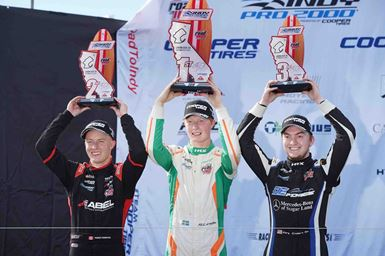 Kory Enders finished 3rd in Indy Pro 2000 finale