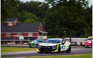 Early Misfortune Leads to Exit for Rebel Rock Racing Camaro at VIR