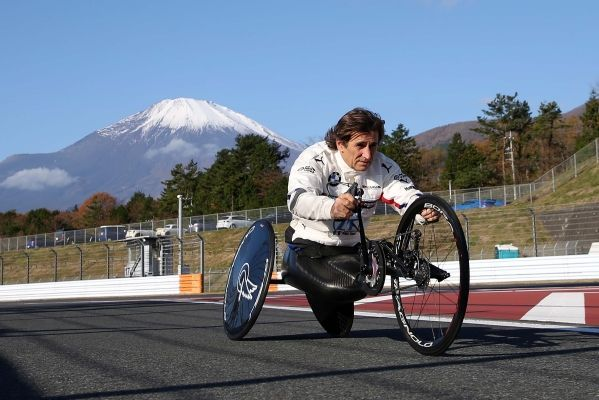 Mission Tokyo 2020: Alessandro Zanardi takes to the Fuji track with his handcycle