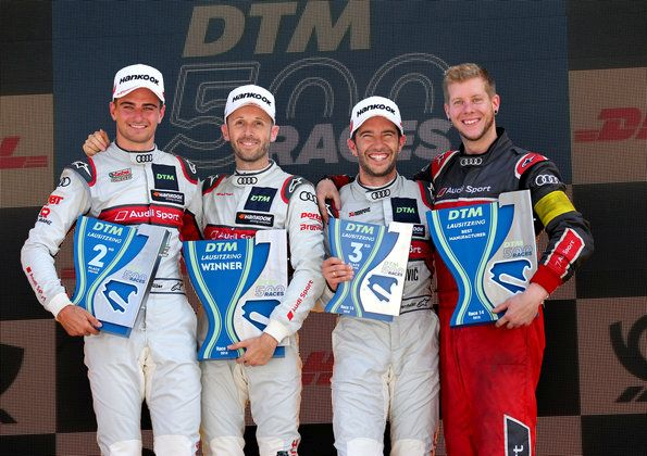 Fivefold triumph in 500th DTM race: Audi is manufacturers' champion early