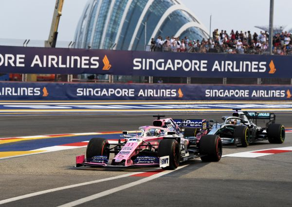Sportpesa RacingPoint F1 Singapore Grand-Prix qualifying