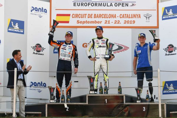 Teppei Natori takes maiden Euroformula win at Barcelona as Carlin makes poker