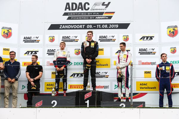 Aron and Estner win Sunday's ADAC F4 races at Zandvoort
