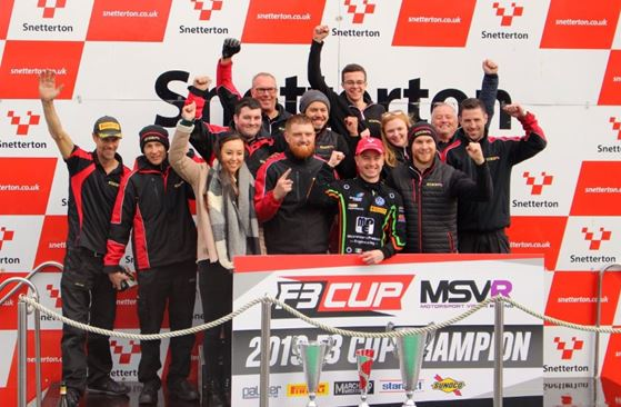 Chris Dittmann Racing's Cian Carey made history as the first driver to take back-to-back titles in F3 Cup