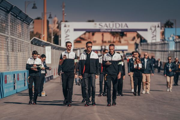 First photos from Porsche preparing for Formula E race in Saudi Arabia