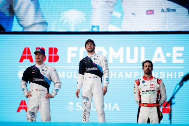 Sims wins Diriyah ePrix to seal first Formula E victory