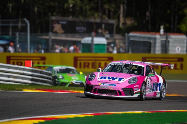 Oman's Al-Faisal Al-Zubair climbs four places to finish 13th in Porsche Mobil1 Super Cup at Spa